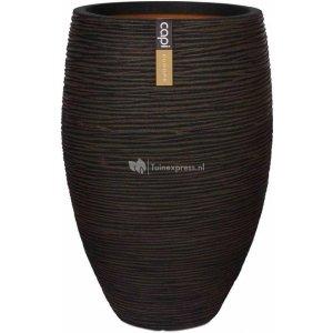 Capi Nature Rib NL vase elegant luxe M 39x39x60cm Bruin bloempot