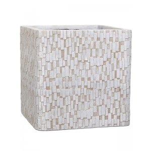 Capi Nature stone 41x41x41cm vierkante plantenbak ivoor