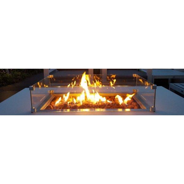 Easy Fires inbouwbrander rechthoek 76x26x16