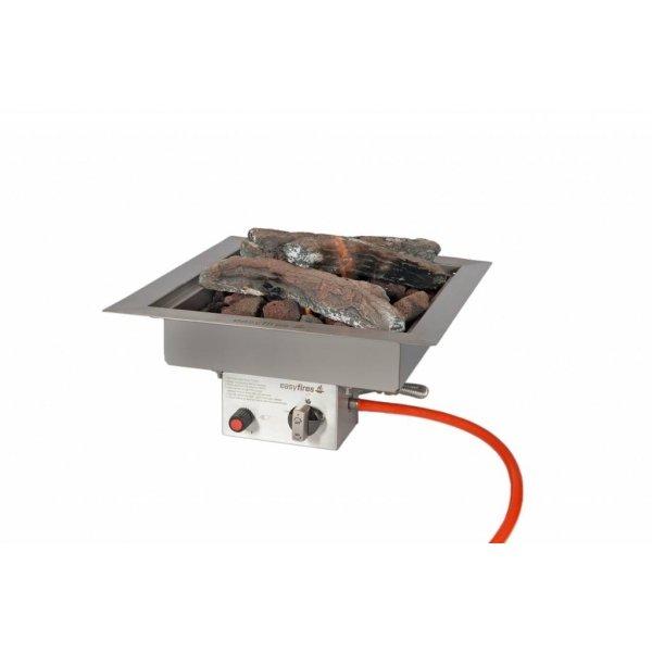 Easy Fires inbouwbrander vierkant 40x40x16