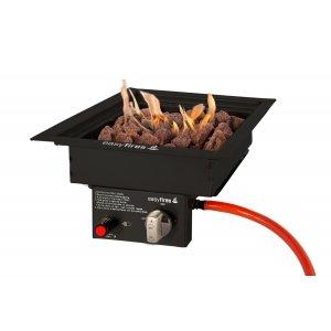 Easy Fires inbouwbrander vierkant zwart 30x30cm.