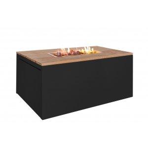 Easy Fires vuurtafel Cube rechthoek zwart