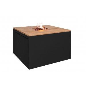 Easy Fires vuurtafel Cube vierkant zwart