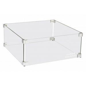 Easy fires glazen ombouw vierkant