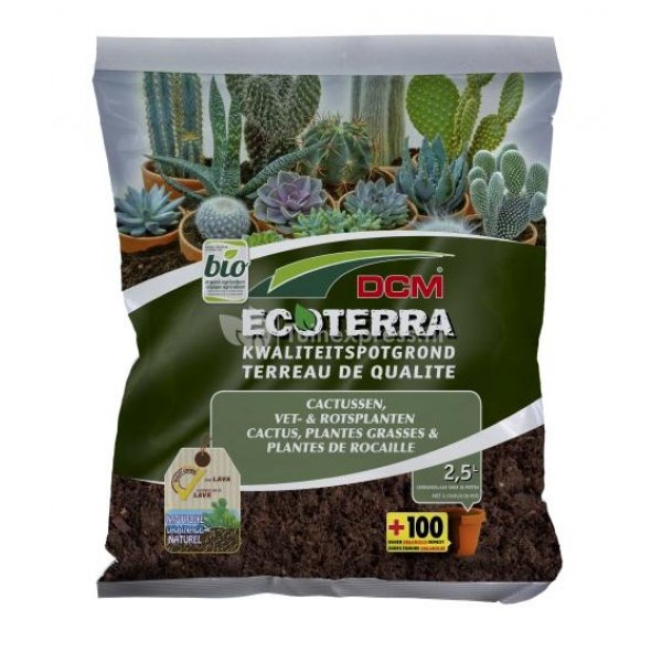 Ecoterra cactus en vetplanten potgrond - 10 L