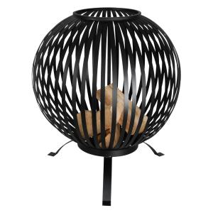 Esschert Design - Vuurkorf Vuurbal Strepen Zwart