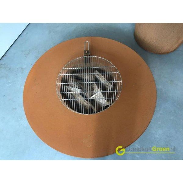 Forno vuurtafel Cortenstaal incl. BBQ roosterTerrasverwarming
