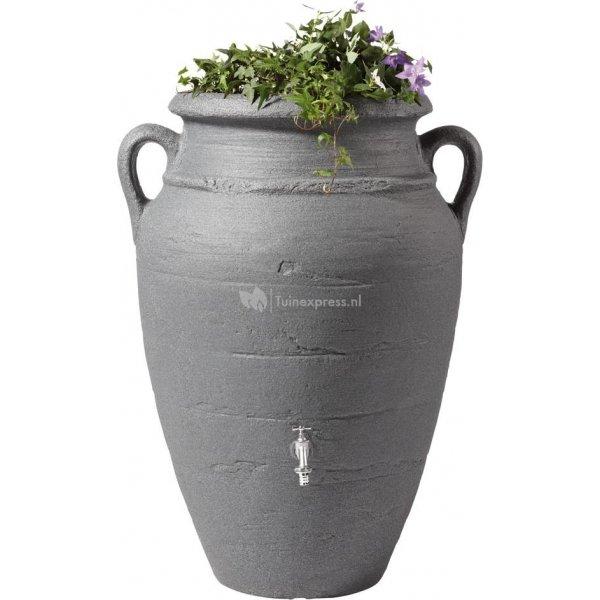 Garantia Amphore regenton met bloembak 250 liter antraciet