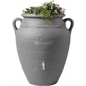 Garantia Amphore regenton met bloembak 360 liter antraciet