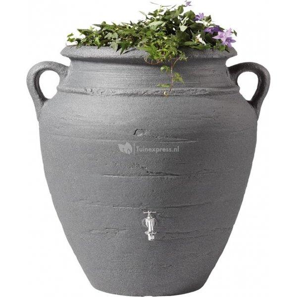Garantia Amphore regenton met bloembak 600 liter antraciet