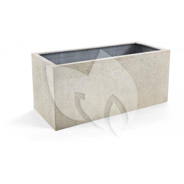 Grigio plantenbak Box L antiek wit betonlook
