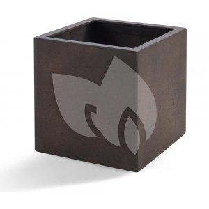 Grigio plantenbak Cube S roestig metaal betonlook