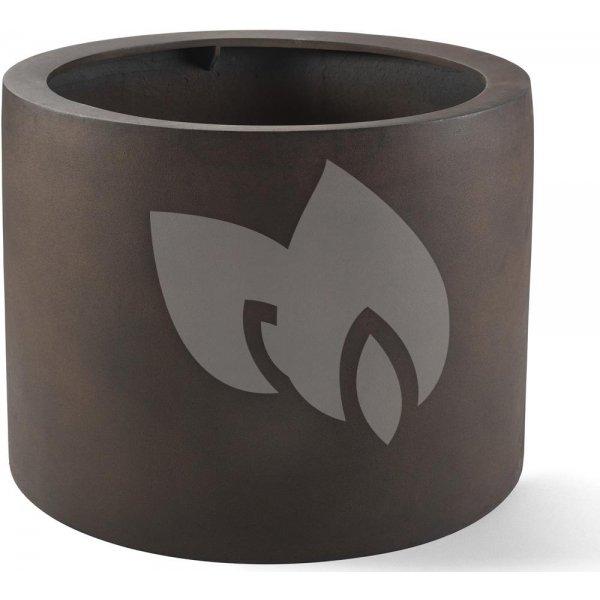 Grigio plantenbak Cylinder M roestig metaal betonlook