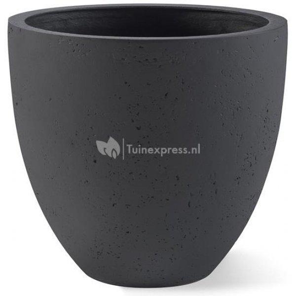 Grigio plantenbak Egg Pot L antraciet betonlook