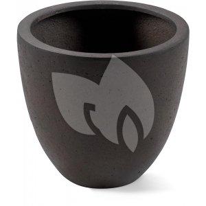 Grigio plantenbak Egg Pot L roestig metaal betonlook