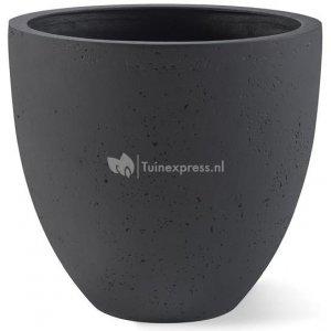 Grigio plantenbak Egg Pot M antraciet betonlook