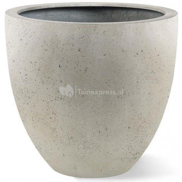 Grigio plantenbak Egg Pot S antiek wit betonlook