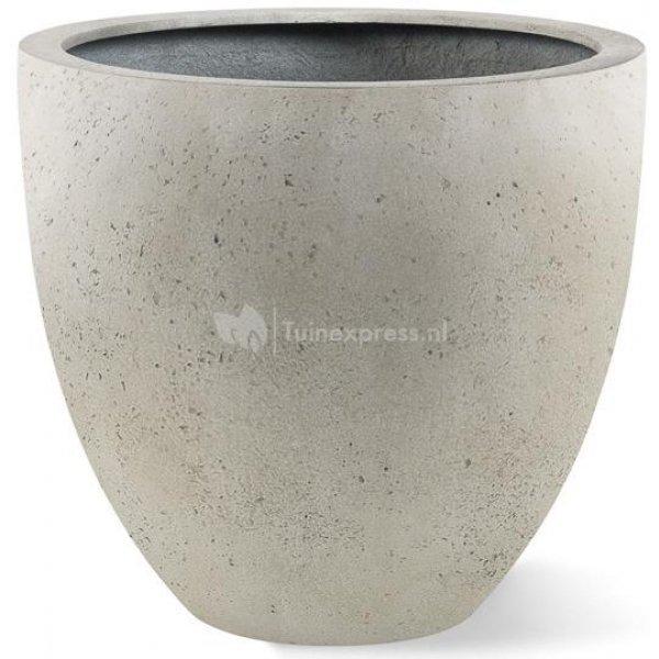 Grigio plantenbak Egg Pot XL antiek wit betonlook