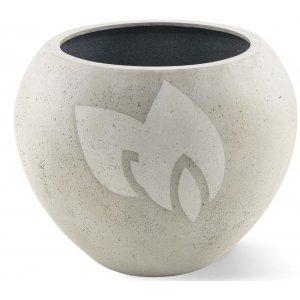 Grigio plantenbak Global L antiek wit betonlook