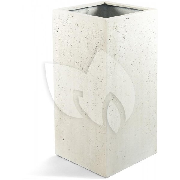 Grigio plantenbak High Cube M antiek wit betonlook