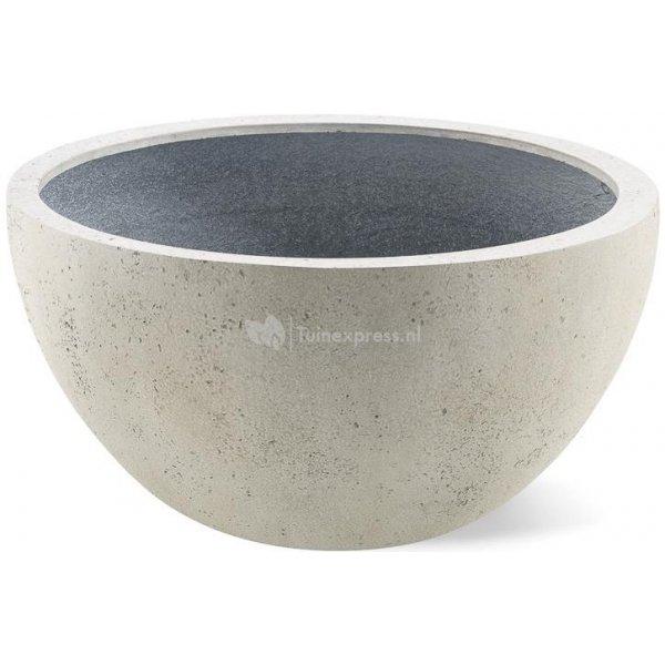Grigio plantenbak Low Egg pot M antiek wit betonlook