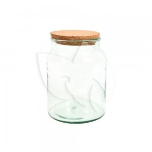 Halfopen terrarium fles S 19x19x26 cm