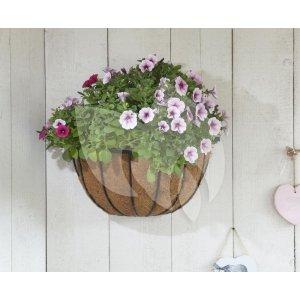 Hanging basket van smeedijzer half rond 40 cm