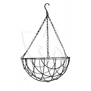 Hanging basket zwart gecoat - Hanging basket Ø 35 cm