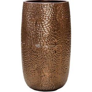 Hoge Pot Marly Gold ronde gouden bloempot voor binnen en buiten 36x63 cm