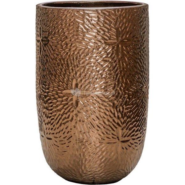 Hoge Pot Marly Gold ronde gouden bloempot voor binnen en buiten 47x70 cm