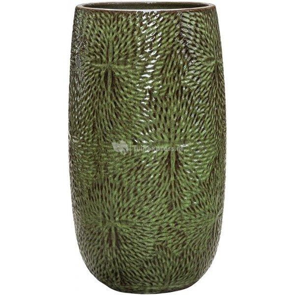 Hoge Pot Marly Green ronde groene bloempot voor binnen en buiten 36x63 cm