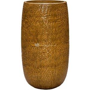 Hoge Pot Marly Honey ronde gele bloempot voor binnen en buiten 36x63 cm
