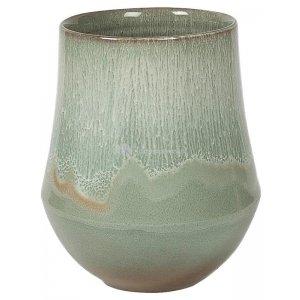 Hoge pot Fusion Mint hoge ronde bloempot voor binnen 18x26 cm mintgroen