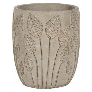 Hoge pot Nantes Grey 18x21 cm grijze ronde bloempot voor binnen