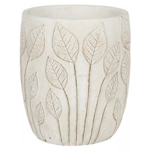 Hoge pot Nantes White 15x17 cm witte ronde bloempot voor binnen