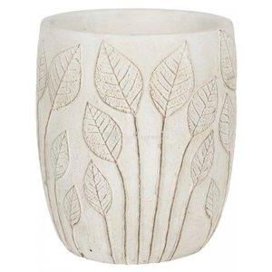 Hoge pot Nantes White 18x21 cm witte ronde bloempot voor binnen