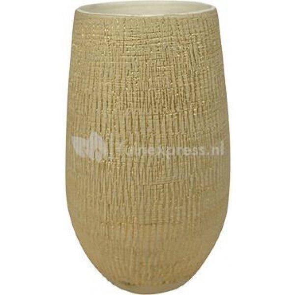 Hoge pot Ryan shiny sand bloempot binnen 18 cm