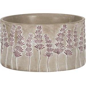 Lage pot Sault Purple 21x11 cm grijze ronde bloempot voor binnen