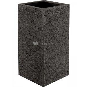 Luca Lifestyle Struttura Cube M 40x40x100 cm hoge plantenbak donkerbruin