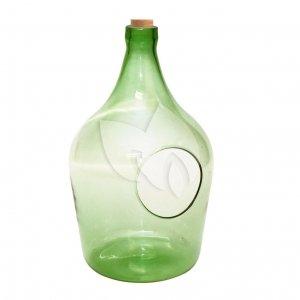 Open terrarium fles M 5L 19x19x33 cm groen