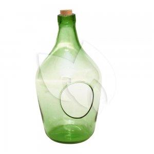 Open terrarium fles S 3L 16x16x30 cm groen