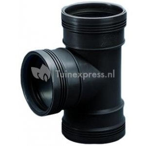 PP t-stuk 90 graden manchet - 125 mm