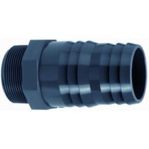 """PVC slangtule met buitendraad - 1"""" x 30 - 32 mm"""