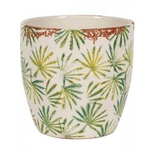 Pot Grenada Light Green M 18x16 cm lichtgroene palm ronde bloempot voor binnen