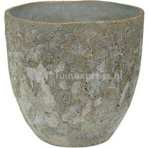 Pot Jens grey bloempot binnen 21 cm
