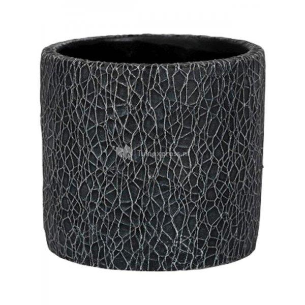 Pot Leon Black 17x15 cm zwarte ronde bloempot voor binnen