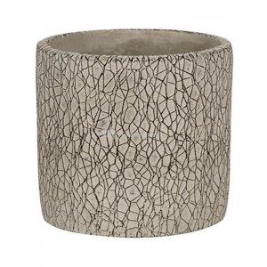 Pot Leon Grey 14x13 cm grijze ronde bloempot voor binnen