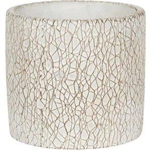 Pot Leon White 14x13 cm witte ronde bloempot voor binnen