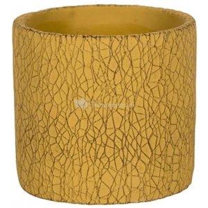 Pot Leon Yellow 14x13 cm gele ronde bloempot voor binnen