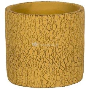 Pot Leon Yellow 17x15 cm gele ronde bloempot voor binnen